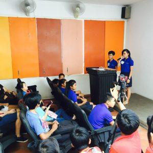Giving speech at Meta House